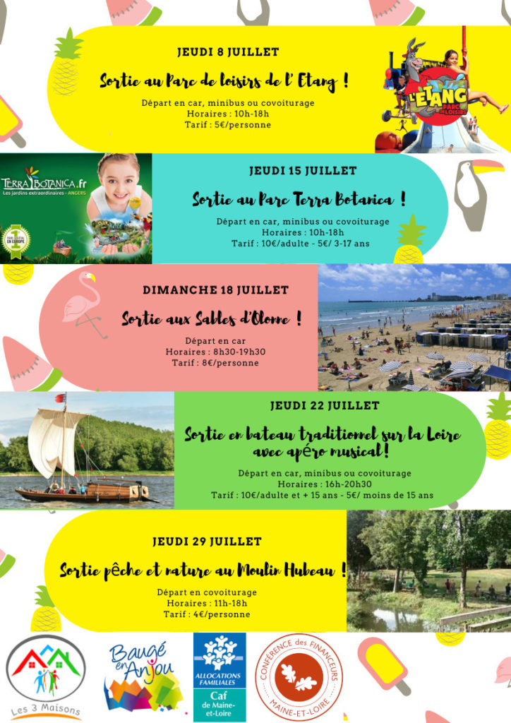 Sorties estivales - Liste des sorties